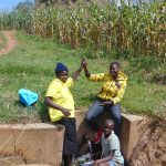 The Water Project: Burachu B Community, Shitende Spring -  Everlyn Jemmimah And Lucy