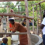 The Water Project: Elukho Community A -  Christine At The Pump