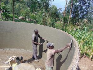 The Water Project:  Cementing Inside Of Tank Walls