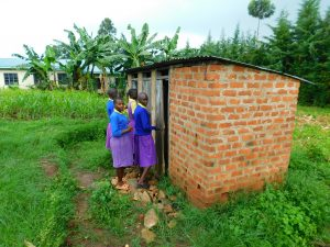 The Water Project:  Girls In Line At Latrines