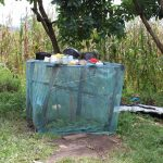 The Water Project: Kalenda B Community, Lumbasi Spring -  Dishrack
