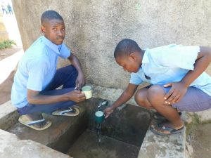 The Water Project:  Alvine On Left With Another Student