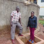 The Water Project: Kwirenyi Secondary School -  Mr Muchesia And Field Officer Christine Masinde