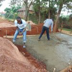 The Water Project: Ikumba Secondary School -  Latrine Foundation