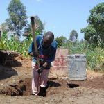The Water Project: Kapchorwa Primary School -  Digging The Access Area To The Rain Tank
