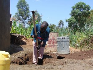 The Water Project:  Digging The Access Area To The Rain Tank