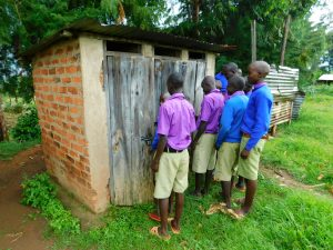 The Water Project:  Boys In Line At Latrines