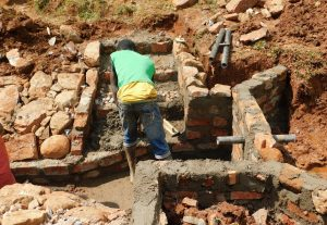 The Water Project:  Working On The Stairs