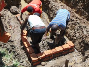 The Water Project:  Bricksetting Begins