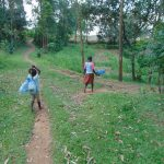 The Water Project: Bukhaywa Community, Ashikhanga Spring -  Children Heading To The Spring