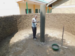 The Water Project:  Isnide The Tank The Main Support Pillar