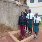 The Water Project: Kwirenyi Secondary School -  Field Officer Christine With Students