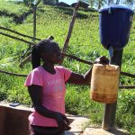 The Water Project: Emulakha Community, Alukoye Spring -  Purifying Spring Water Using Chlorine Dispenser