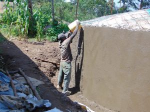 The Water Project:  Working On Tank Dome And Walls