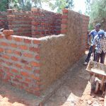 The Water Project: Ikumba Secondary School -  Latrine Walls Going Up