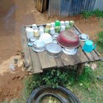 The Water Project: Bukhaywa Community, Shidero Spring -  Dishes Drying