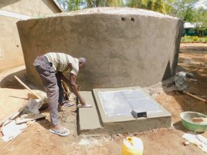 The Water Project:  Construction Of Manhole Cover
