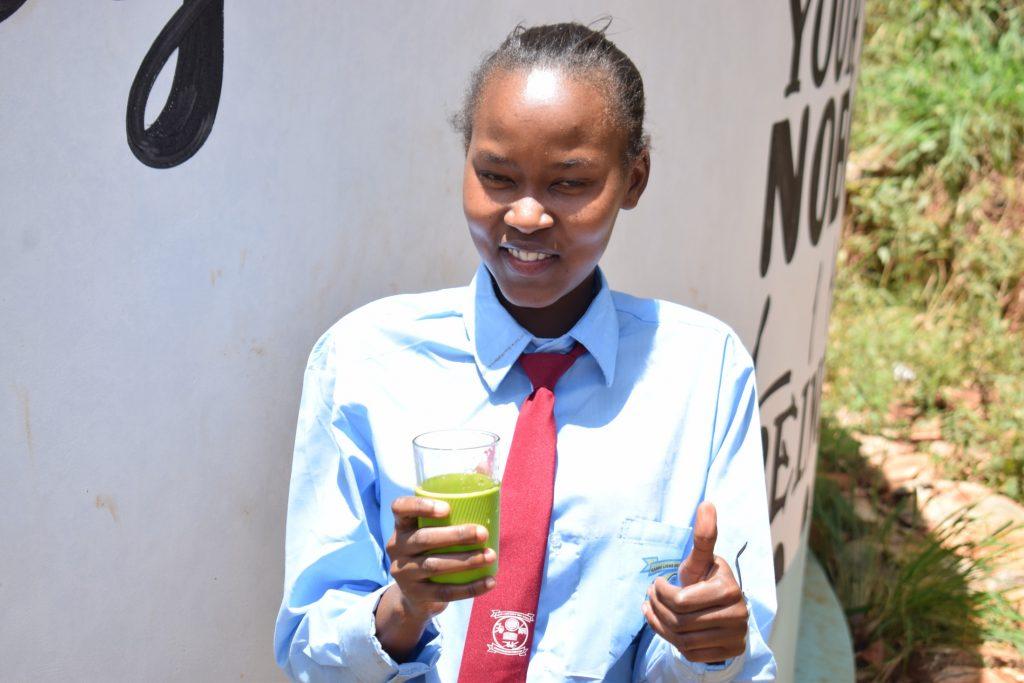 The Water Project : kenya18229-winfred-nthenya-school-president