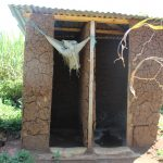 The Water Project: Kalenda A Community, Webo Simali Spring -  Bathroom Next To A Toilet