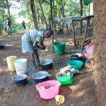 The Water Project: Maondo Community, Ambundo Spring -  Washing Dishes