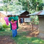 The Water Project: Rosterman Community, Lishenga Spring -  Hanging Clothes To Dry
