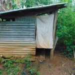 The Water Project: Jivovoli Community, Magumba Spring -  Latrine