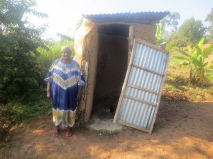 The Water Project:  A Community Member At Her Latrine