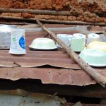 The Water Project: Masuveni Community, Masuveni Spring -  Dishes Drying