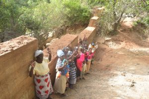 The Water Project:  Shg Members At The Sand Dam