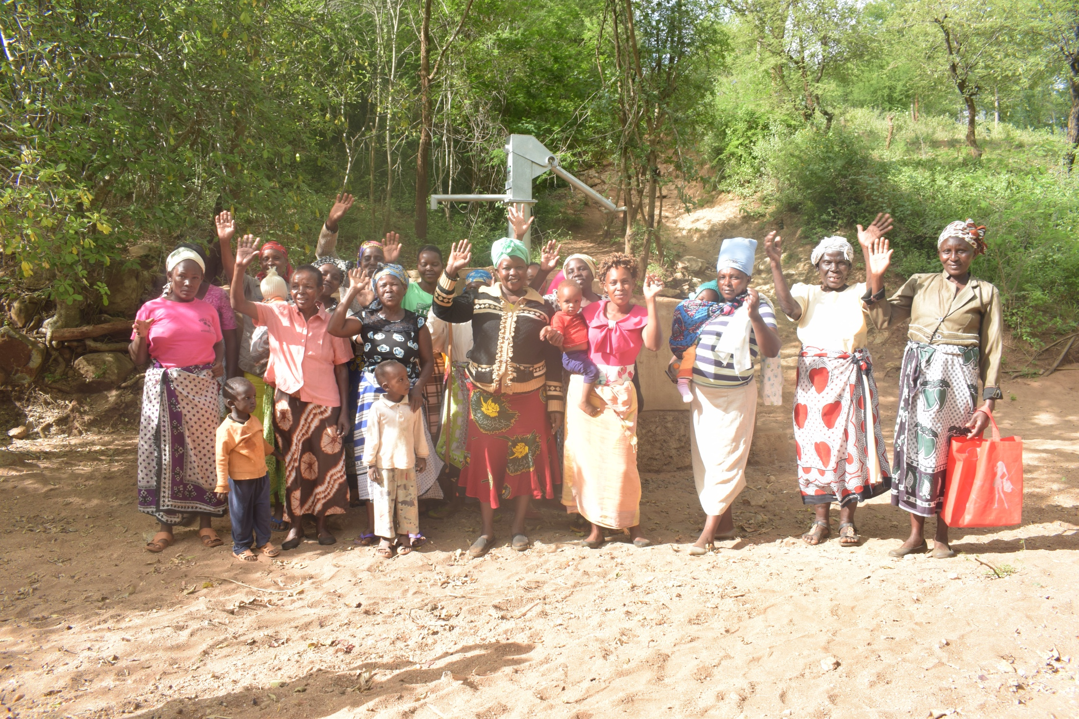 The Water Project : kenya19221-shg-members-at-the-well
