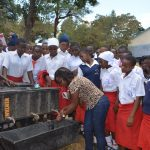 The Water Project: AIC Kyome Girls' Secondary School -  Handwashing Demonstration