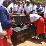 The Water Project: AIC Kyome Girls' Secondary School -  Handwashing With Soap