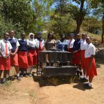 The Water Project: AIC Kyome Girls' Secondary School -  Students At The New Handwashing Station