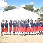 The Water Project: AIC Kyome Girls' Secondary School -  Students At The Tank