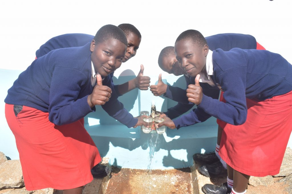The Water Project : kenya19238-thumbs-up-for-reliable-water