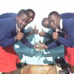 The Water Project: AIC Kyome Girls' Secondary School -  Thumbs Up For Reliable Water