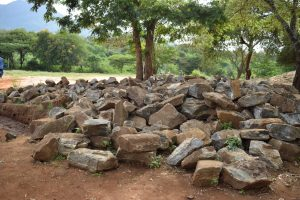 The Water Project:  Rocks Collected For The Tank