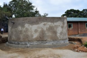 The Water Project:  Tank Cement Dries
