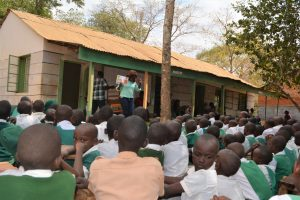 The Water Project:  Trainer Speaks To Students About Hygiene And Sanitation