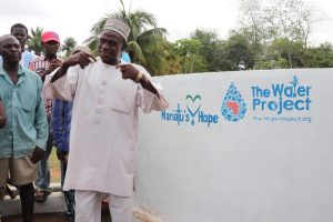 The Water Project:  Chief Pa Santigie Kamara Making Statement