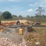 The Water Project: Kikube Nyabubale Community -  Pad Construction