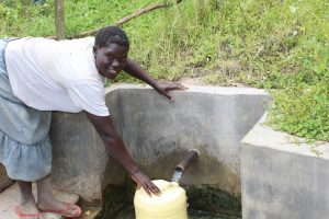 The Water Project:  Hellen Nelima Fetches Water