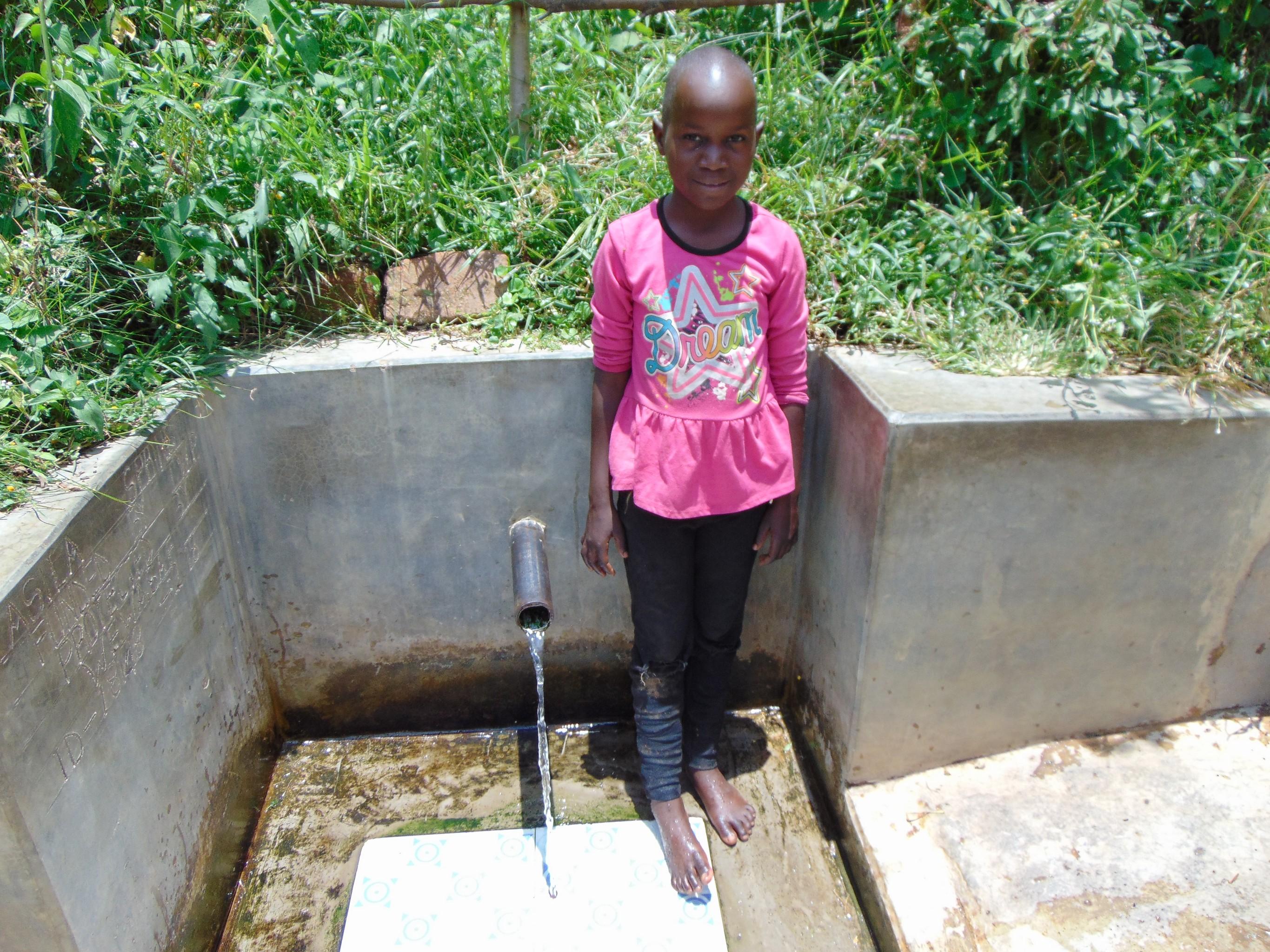 The Water Project : 0-kenya18148-rose-nanjala-at-the-spring