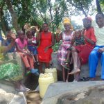 The Water Project: Lunyi Community, Fedha Mukhwana Spring -  Happy Spring Users
