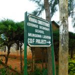 The Water Project: Kerongo Secondary School -  School Sign Post