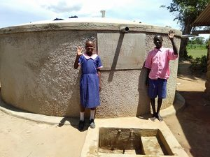 The Water Project:  Linda Mulati With Moses Murunga At The Tank