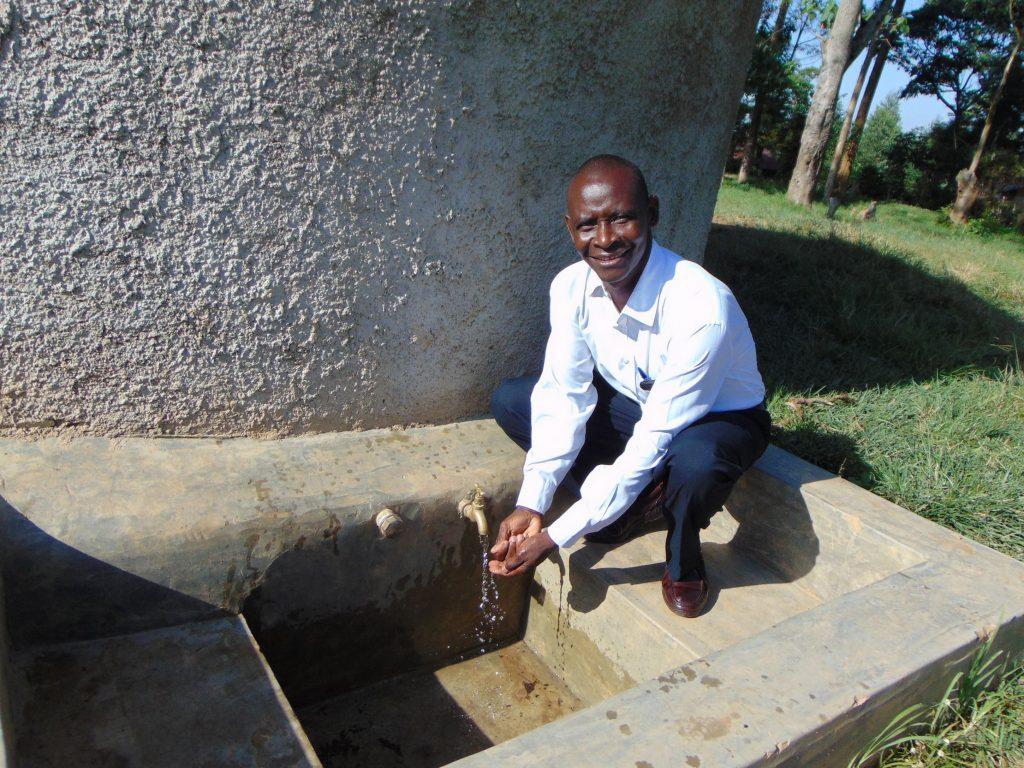 The Water Project : 1-kenya18059-mr-joseph-ilavonga