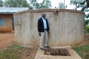 The Water Project:  Head Teacher Francis Shibira