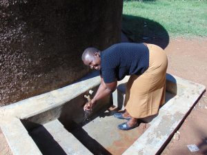 The Water Project:  Sanitation Teacher Mrs Everline Nkumu