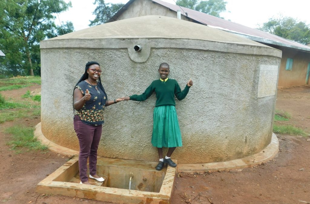 The Water Project : 1-kenya18083-field-officer-jacklyne-chelagat-with-student-eunice-mmboga